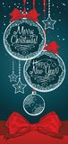 Merry christmas card. Merry christmas and happy new year card Stock Photos