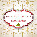 Merry Christmas card. Merry Christmas and Happy New Year background Royalty Free Stock Images