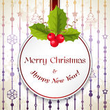 Merry Christmas card. Merry Christmas and Happy New Year background Royalty Free Stock Photography