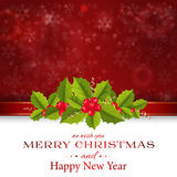 Merry Christmas card and Happy New Year background Royalty Free Stock Photo
