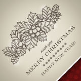 Merry Christmas card and Happy New Year card Royalty Free Stock Photography
