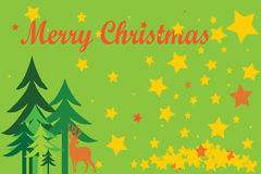 Merry Christmas card Royalty Free Stock Image