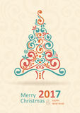 Merry Christmas Card. Happy New Year. Royalty Free Stock Photos