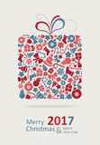 Merry Christmas Card. Happy New Year. Royalty Free Stock Photography
