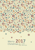 Merry Christmas Card. Happy New Year. Stock Photography