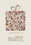 Merry Christmas Card. Happy New Year. Stock Image