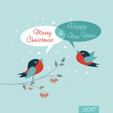 Merry Christmas Card. Happy New Year. Stock Images