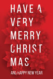 Merry Christmas. Card. Happy New Year. Red Background. Christmas Flowers Stock Images