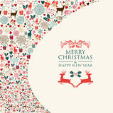 Merry Christmas card Stock Image