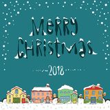 Merry christmas 2018 card stock images