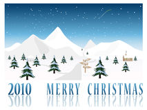 Merry Christmas card  illustration Stock Photography
