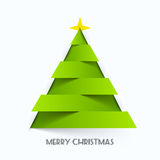 Merry Christmas card. Illustration. Christmas tree Stock Illustration