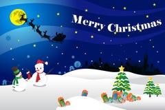 Merry Christmas card illustration. Vector illustration Merry Christmas card. Merry Christmas card illustration with Claus santa vector illustration