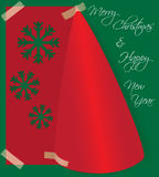Merry Christmas card made from folded paper Stock Photography
