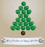 Merry Christmas card made from office pins Stock Image