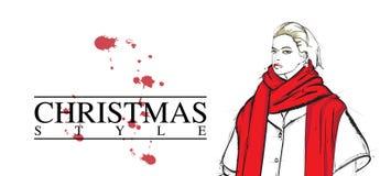 Merry Christmas  card. Stock Image