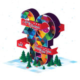 2015 Merry Christmas. Card for the new year Stock Photography