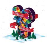 2015 Merry Christmas Stock Photography