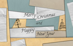 Merry Christmas card paper Royalty Free Stock Image
