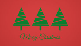 Merry Christmas Card. A postcard or greeting card for the Christmas holidays Royalty Free Stock Photos
