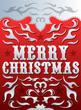 Merry Christmas Card - poster design - western style Royalty Free Stock Photography