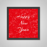Merry christmas card red color in snow Stock Images