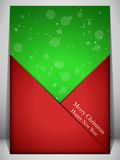 Merry Christmas Card Red and Green Envelope Royalty Free Stock Images