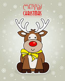 Merry Christmas card. reindeer. Royalty Free Stock Image