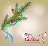 Merry Christmas card. In retro style Royalty Free Stock Images
