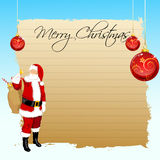 Merry christmas card with santa Royalty Free Stock Images