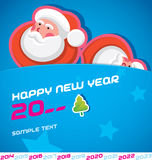 Merry Christmas Card. With Santa Claus stock illustration