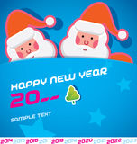 Merry Christmas Card. With Santa Claus vector illustration