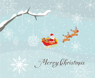 Merry christmas card with santa claus and gift. Christmas Background and element for design Stock Photography