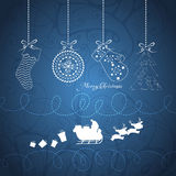 Merry christmas card with santa claus and gift white. Christmas Background and element for design Stock Photo