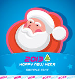Merry Christmas Card. Merry Christmas, Santa Claus, New year Card, Badge, Icon, Symbol Stock Photo