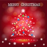 Merry christmas card. Sent feel happy to my family and friend Royalty Free Stock Photos