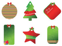 Merry christmas card set Royalty Free Stock Photos
