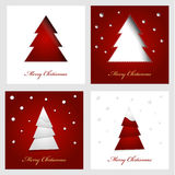 Merry christmas. card set. Vector illustration. set of cards for christmas Royalty Free Stock Image