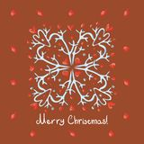 Merry Christmas card with snowflake Stock Image