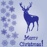 Merry Christmas card and snowflake decoration. Background.Vector illustration Stock Photography