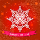 Merry Christmas card and snowflake decoration Royalty Free Stock Photos
