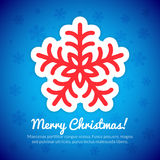 Merry Christmas Card with Snowflake Stock Photos