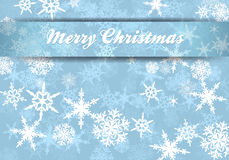 Merry Christmas Card Snowflakes Background Stock Image