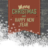 Merry Christmas Card With  Space For Text. Royalty Free Stock Photo