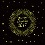 Merry Christmas 2017 card Royalty Free Stock Image