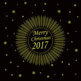 Merry Christmas 2017 card Royalty Free Stock Images