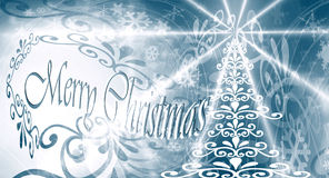 Merry Christmas card with stars Stock Image