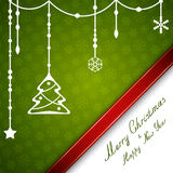 Merry Christmas card with stars and snowflakes Stock Photography