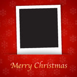 Merry Christmas card template with blank photo fra Stock Image