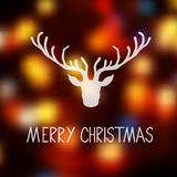 Merry Christmas card template with a deer Stock Photography